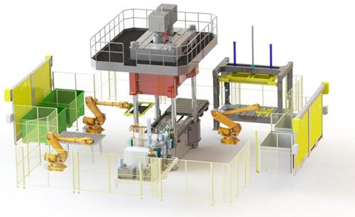 CFRP部品量産システムイメージ図