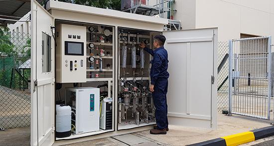 CO2からメタンを製造するメタネーション技術のデモ装置を開発