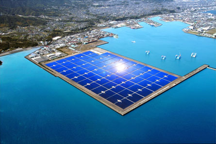 Artist rendering of the completed mega-solar power plant